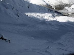 13.2.2014 - Lavína v Derešskom kotli v Nízkych Tatrách